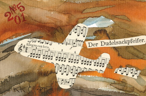 Cartoon: Dada jump (medium) by Kestutis tagged dada,postcard,kestutis,lithuania,music