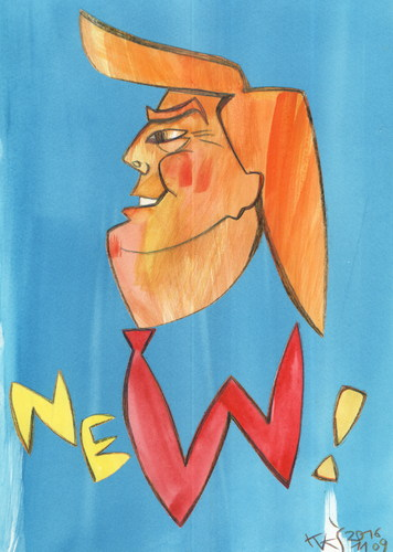 Cartoon: Donald Trump (medium) by Kestutis tagged president,donald,watercolor,dada,election,victory,trump,kestutis,lithuania,usa