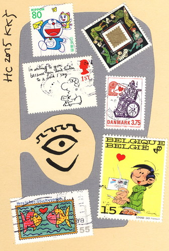 Cartoon: Humor Collection. Letter. Brief (medium) by Kestutis tagged dada,postcard,humor,collection,letter,brief,stamp,kestutis,lithuania,briefmarke