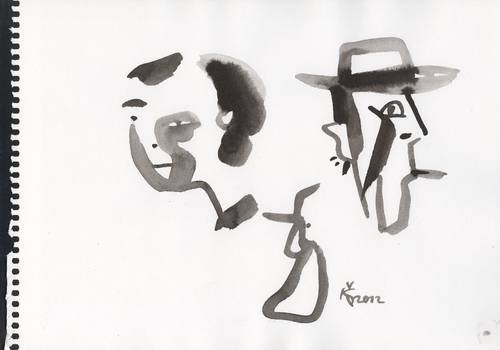 Cartoon: WESTERN. ONCE UPON... (medium) by Kestutis tagged cardinale,claudia,actor,sketch,film,movies,cinema,western