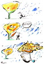 Cartoon: DANKE! (small) by Kestutis tagged please,bitte,thanks,danke,rain,tree,baum,autumn,herbst,nature