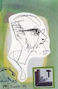 Cartoon: Dmitrij Gutov (small) by Kestutis tagged sketch,postcard,kestutis,lithuania,dada,art,kunst