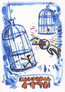 Cartoon: HANDBALL MYTH (small) by Kestutis tagged handball,myth,sport,ball,bird,goalkeeper