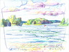 Cartoon: Lithuanian lakes (small) by Kestutis tagged lithuania,lakes,sketch,watercolor,summer,nature,kestutis