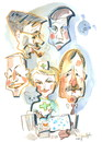 Cartoon: LITHUANIAN POLITICIANS (small) by Kestutis tagged book,illustration,politicians,caricature,kestutis,lithuania
