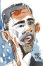 Cartoon: Obama (small) by Kestutis tagged obama,kestutis,postcard,lithuania,usa,berlin,washington,moscow,kiev