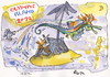 Cartoon: OLYMPIC ISLAND. Steeplechase (small) by Kestutis tagged steeplechase,horse,london,olympics,ocean,2012,island,desert,summer,kestutis,siaulytis,seepferdchen,seahorse,sport,month,lithuania