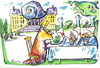 Cartoon: PARTY IN THE GARDEN (small) by Kestutis tagged snail,party,garden,cook,palace,nature,food