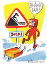 Cartoon: Road sign - Black Sea (small) by Kestutis tagged black,sea,winter,olympic,sochi,sports,2014,luge,kestutis,lithuania,road,sign