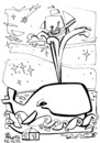 Cartoon: Saint Nicholas travels (small) by Kestutis tagged kestutis,weihnachten,christmas,santa,claus,whale,ocean,sea,meer,ship,schiff