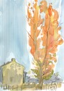 Cartoon: Sketch art. Autumn plein airs 1 (small) by Kestutis tagged sketch art kunst autumn plein airs kestutis lithuania