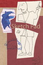 Cartoon: Sketch pad (small) by Kestutis tagged sketch,theatre,dada,postcard,kestutis,lithuania