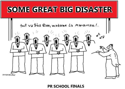Cartoon: pr and stuff (medium) by ouzounian tagged pr,school,exams