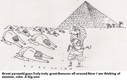 Cartoon: pyramid (medium) by ouzounian tagged egyptians,ancient,pyramids,faraons