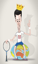Cartoon: Novak Djokovic (small) by StajevskiArt tagged novak djokovic