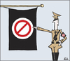 Cartoon: NO! (small) by gibby9 tagged hucktoons