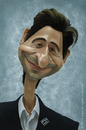Cartoon: Adrien Brody (small) by areztoon tagged adrien,brody,caricature