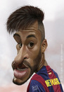 Cartoon: Neymar da Silva Santos Junior (small) by areztoon tagged caricature,barca,fcb,neymar,karikatur,brasil,brazil