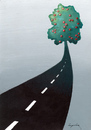 Cartoon: Road (small) by luka tagged fruit