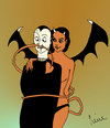 Cartoon: Der längste... (small) by Pierre tagged jungs,böse,mädchen,bad,girl,eros,erotik