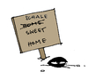 Cartoon: The daily mussel (small) by Pierre tagged muschel,miesmuschel,schale,strand,home,sweet,heimat