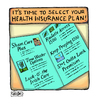 Cartoon: Six Excellent Options (small) by a zillion dollars comics tagged business,insurance,health,scam