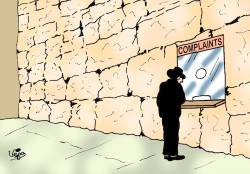 Cartoon: Wailing wall... (medium) by Vejo tagged wailing,wall,humour,joke,funny