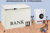Cartoon: REORGANIZATION OF CYPRUS BANKS.. (small) by Vejo tagged cyprus,banks,money,laundery