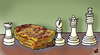 Cartoon: HORSEMEAT SCANDAL... (small) by Vejo tagged horse,meat,scandal,chess,fraudulence