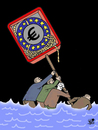 Cartoon: Saving the Eurozone... (small) by Vejo tagged euro,saving,operation,money,bank