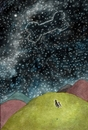 Cartoon: Sternbild -constellation- (small) by motoko tagged hund dog stern star himmel sky night knochen boon romantik