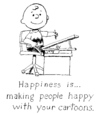 Cartoon: Happiness is... (small) by Alan tagged peanuts,charlie,brown,cartoonist,schulz,happiness,happy,cartoon