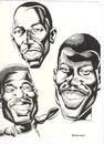Cartoon: Basketball Players (small) by McDermott tagged basketball players sports proball inkwork