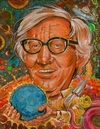 Cartoon: Caricature of Ray Bradbury (small) by McDermott tagged raybradbury,sciencefiction,books,60s,tv,movies