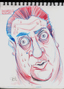 Cartoon: Rodney Dangerfield Caricature (small) by McDermott tagged rodney,dangerfield,actors,movies,mcdermott,sketch,scribbles