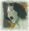 Cartoon: Shes a Screamer (small) by McDermott tagged vampire female art painting old monster scary spooky dark