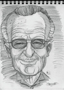 Cartoon: Sketch of Stan Lee (small) by McDermott tagged sketch,stanlee,comics,comicbooks,marvel,caricature,spiderman