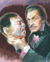 Cartoon: Vincent Price (small) by McDermott tagged vincertprice horror movies