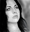 Cartoon: amy lee (small) by ressamgitarist tagged drawing,portrait,photoshop
