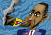 Cartoon: USA-Cuba (small) by to1mson tagged obama,usa,cuba,kuba,besuch,visit,wizyta