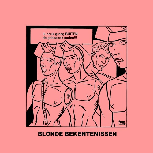Cartoon: Blonde Bekentenissen - Paden! (medium) by Age Morris tagged overlevenenliefde,tags,domblondje,lekkerding,agemorris,buiten,huishomo,paden,pad,gebaandepaden,dwarsligger,dom,blondje,blondebekentenissen,victorzilverberg,homo