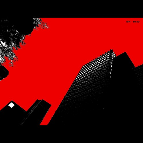 Cartoon: MH - The BloodRed Sky (medium) by MoArt Rotterdam tagged rotterdam,lucht,sky,bloedrood,bloodred,gebouwen,buildings,kantoren,office,zakenleven,business