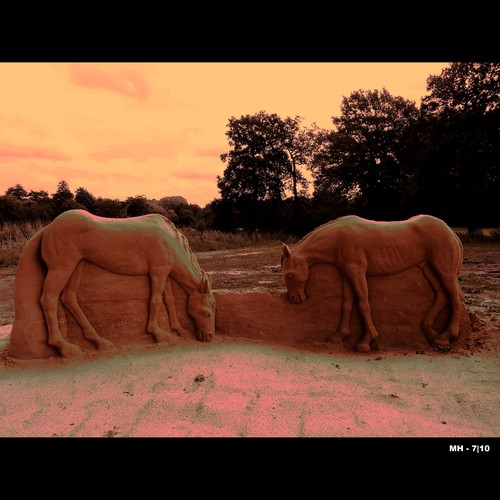 Cartoon: MH - The Grazing Horses (medium) by MoArt Rotterdam tagged horses,paarden,grazing,grazen,zandsculpturenhoensbroek,hoensbroek,kasteelhoensbroek,zandsculpturenfestival2010,zandsculptuur,sand,sandsculpture,zuidlimburg