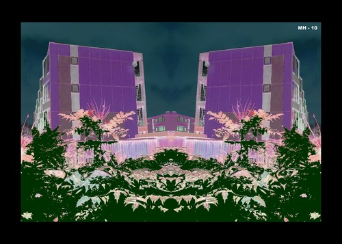 Cartoon: MH - The Purple Village (medium) by MoArt Rotterdam tagged purple,village