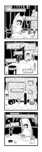 Cartoon: Ypidemi Contact (medium) by bob schroeder tagged assistent,google,alexa,siri,bot,chat,communication,iot,message,text,comics,ypidemi