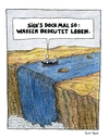 Cartoon: Tonic of life (small) by Huse Fack tagged wasser,water,wasserfall,waterfall