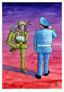 Cartoon: Soldier (small) by Makhmud Eshonkulov tagged soldier