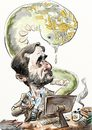 Cartoon: Ahmadinejad_Stuxnet (small) by Bob Row tagged ahmadinejad,iran,computers,israel