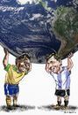 Cartoon: Pele_Messi (small) by Bob Row tagged pele messi world cup fifa soccer brazil argentina