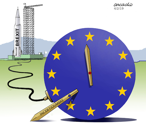 Cartoon: The time is running out. (medium) by Cartoonarcadio tagged great,britain,europe,economy,euro
